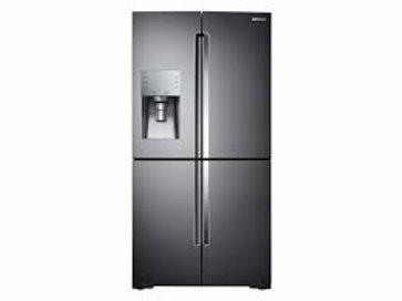 Samsung 23CF 4-Door Refrigerator with FlexZone™ in Black Stainless