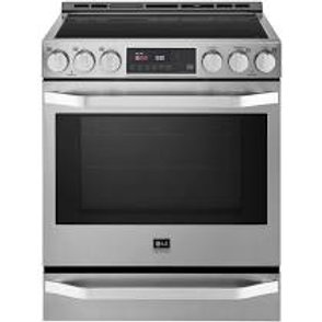 LG Studio 6.3CF Stainless Induction Range w/ ProBake Convection® and EasyClean®