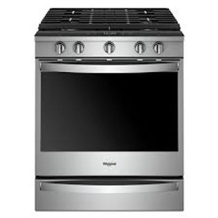 Whirlpool 5.8 cu. ft. Smart Slide-in Gas Range w/Hinged Cast-Iron Grates