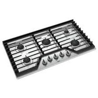 "Whirlpool 36"" 5-Burner Stainless Gas Cooktop"