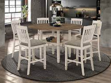 5 Piece Sarasota Counter-Height Dining Set In Nutmeg and Cream