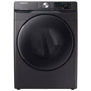Samsung 7.5CF Electric Dryer with Steam Sanitize+ in Black Stainless Steel
