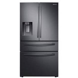 Samsung 23CF Counter-Depth 4 Door Black Stainless Refrigerator