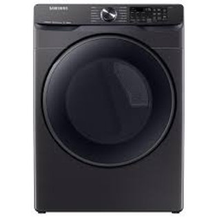 Samsung 7.5CF Electric Dryer with Steam Sanitize+ in Black Stainless Ste