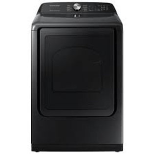 Samsung 7.4CF Electric Dryer w/Steam Sanitize+ in Black Stainless