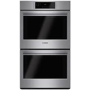 """Bosch 30"""" 800 Series Double Electric Stainless Wall Oven With Convection"""