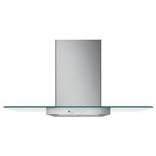 "GE Café™ 36"" Matte White Wall-Mount Glass Canopy Chimney Hood"
