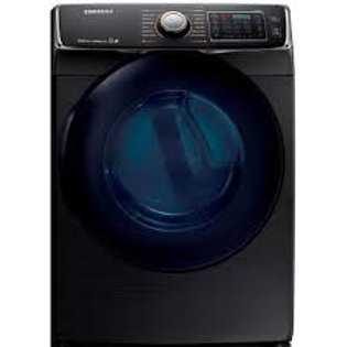 Samsung 7.5CF Smart Gas Dryer with MultiSteam™ in Black Stainless Steel