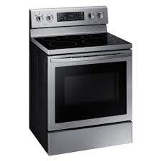 Samsung 5.9CF 5-Burner Stainless Convection Electric Range with AirFry