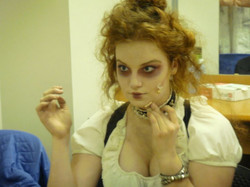 Backstage in Sweeney Todd