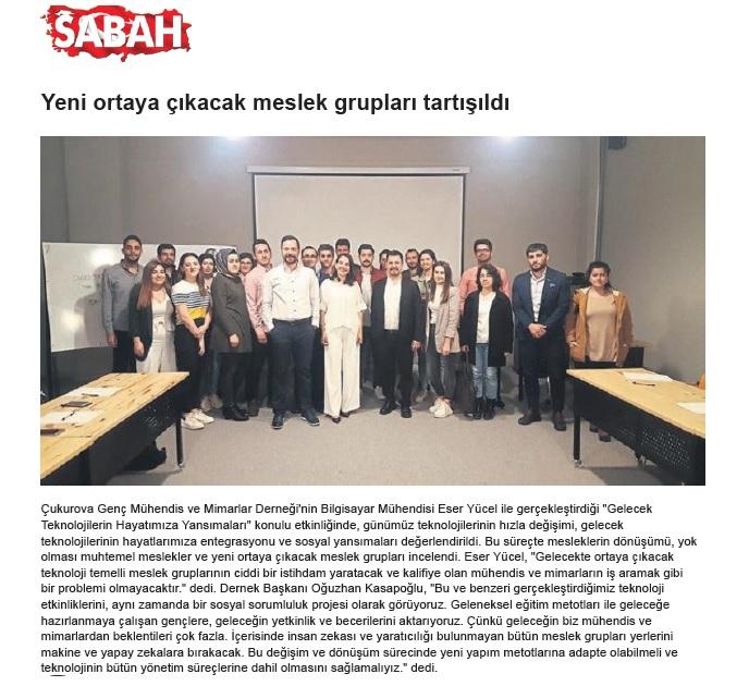 Sabah Gazetesi 19.04.2019