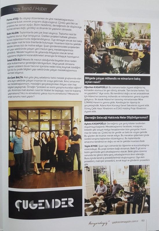 Yapı Trend Dergisi Röportaj