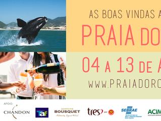Festival oferece harmonizações com vinhos de vários países em clima de serra na praia