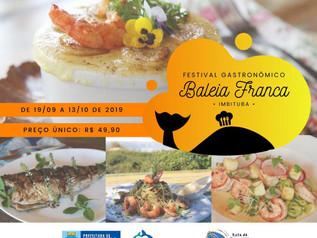 Festival Gastronômico Baleia Franca valoriza o turismo durante a temporada de observação
