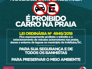 Estacionar o carro na praia pode gerar multa de R$ 195,23