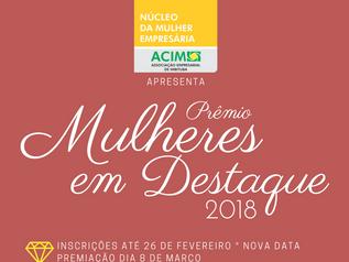 Prêmio Mulheres em Destaque: inscrições prorrogadas