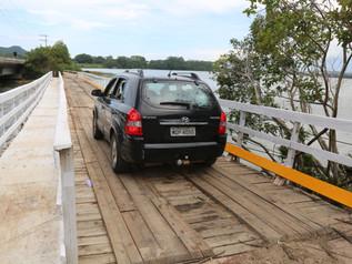 Ponte flutuante é liberada para o tráfego em Imbituba