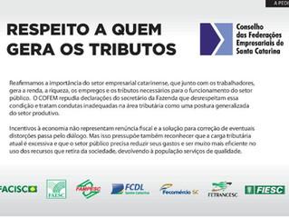 Manifesto: Respeito a quem gera os tributos