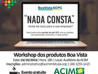 Você já conhece as soluções da Boa Vista? ACIM oferece workshop gratuito