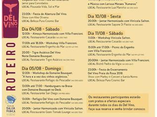 Del Vino: uma harmonização entre restaurantes da Praia do Rosa e vinícolas nacionais e internacionai