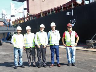 Chefe do Estado Maior da PM visita o Porto de Imbituba