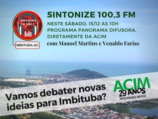 """ACIM lança campanha """"Imbituba do Futuro"""""""