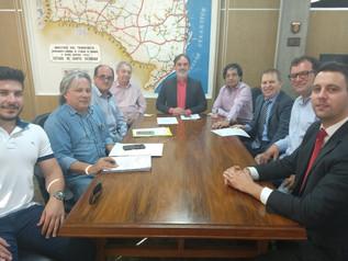 Por uma nova ponte: Comitiva de Imbituba se reúne com o superintendente do DNIT