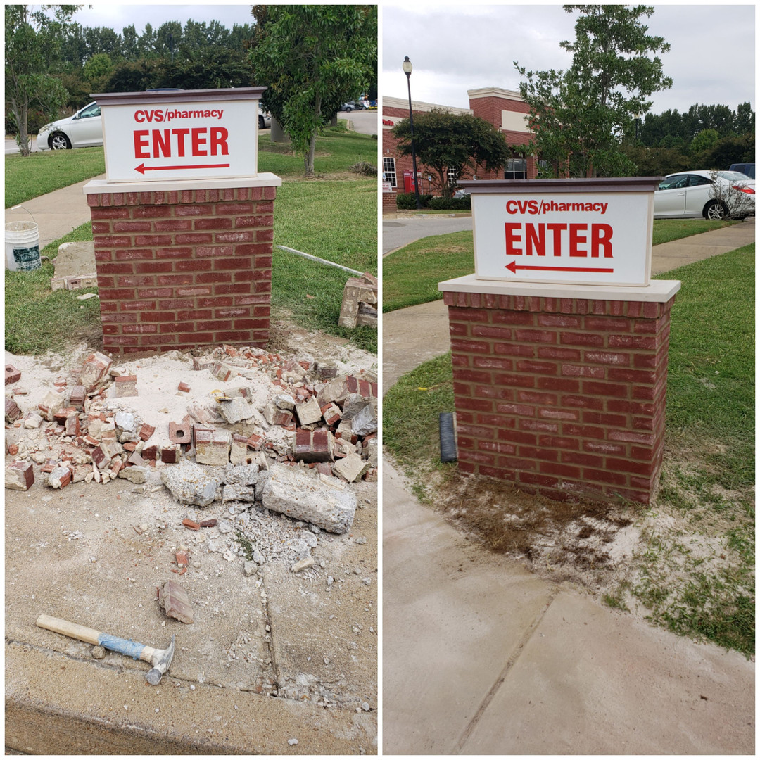 commerical brick replacement