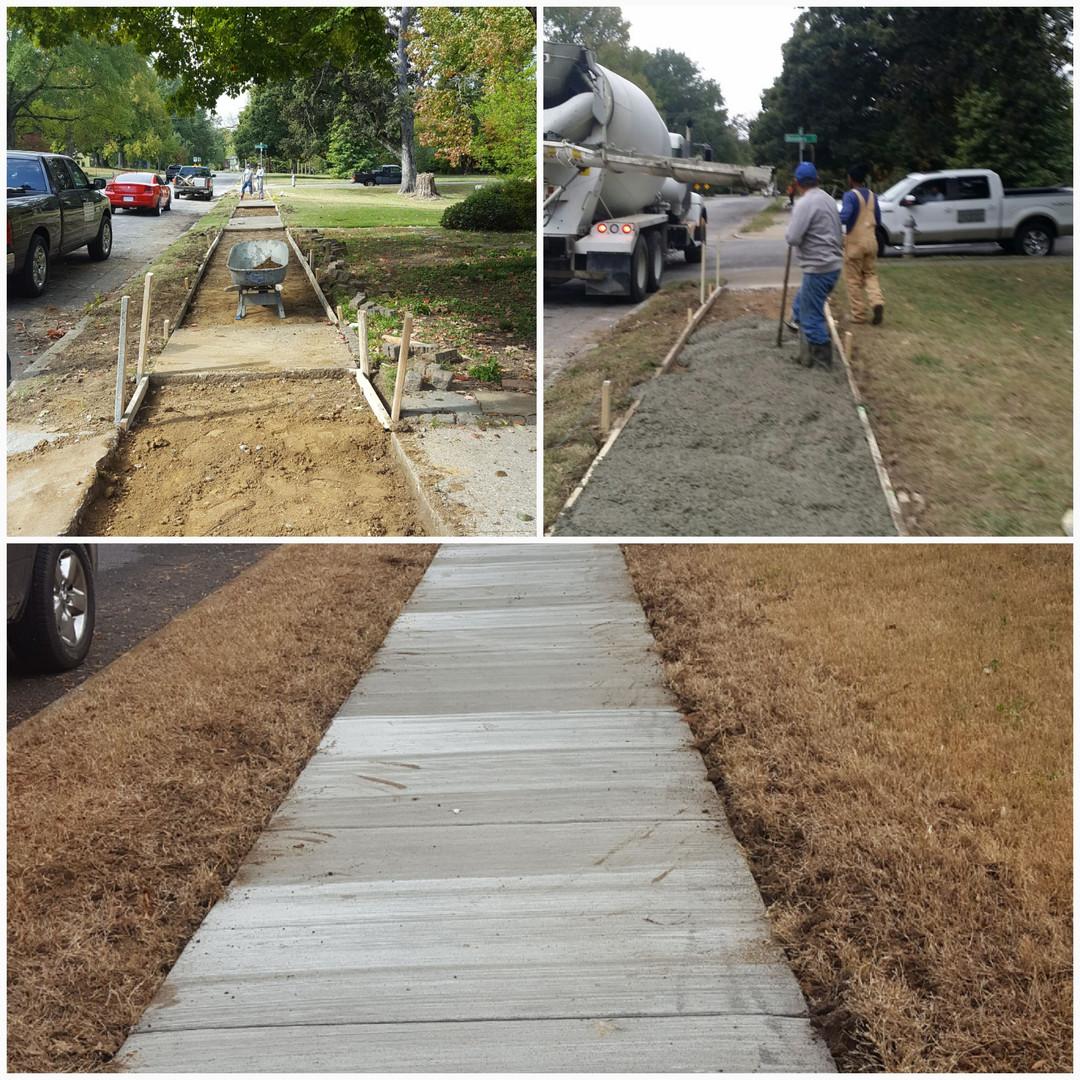 Sidewalk Installation