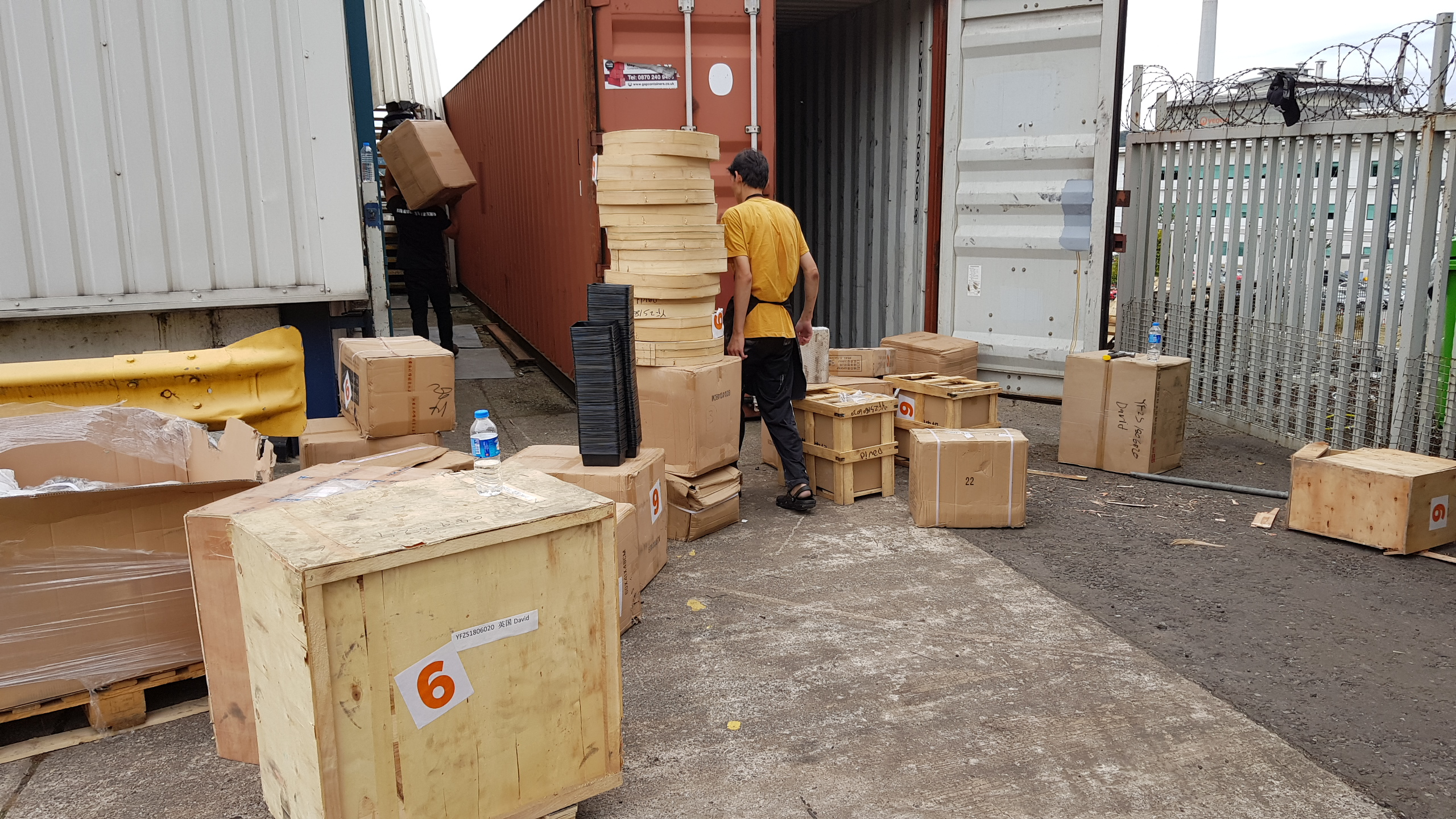 Loading our machines and stock