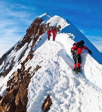 Ascension cordillere Bolivie