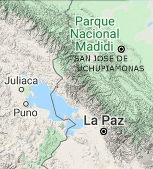 carte san jose de uchupiamonas madidi bolivie