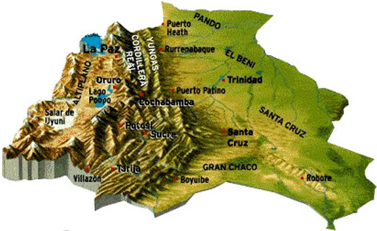 Carte Bolivie