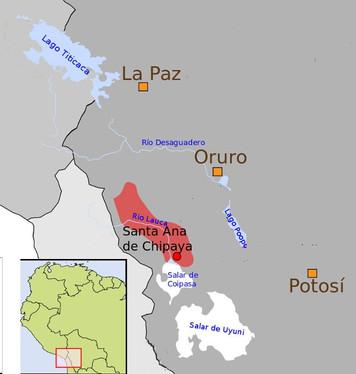 Carte des Chipayas en Bolivie