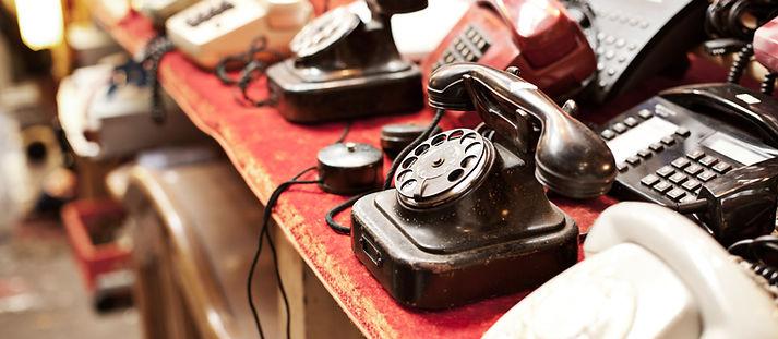 行の古い電話