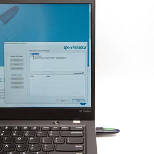 Manage your HyperPKI certificates with the Hypersecu HyperPKI Token Manager for HYP2003.