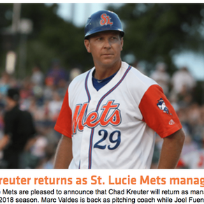 Executive Board Member Kreuter Returns As Skipper of St Lucie Mets