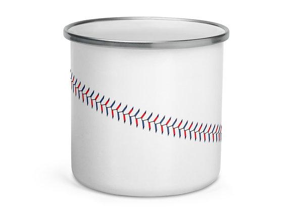 Baseball Enamel Mug