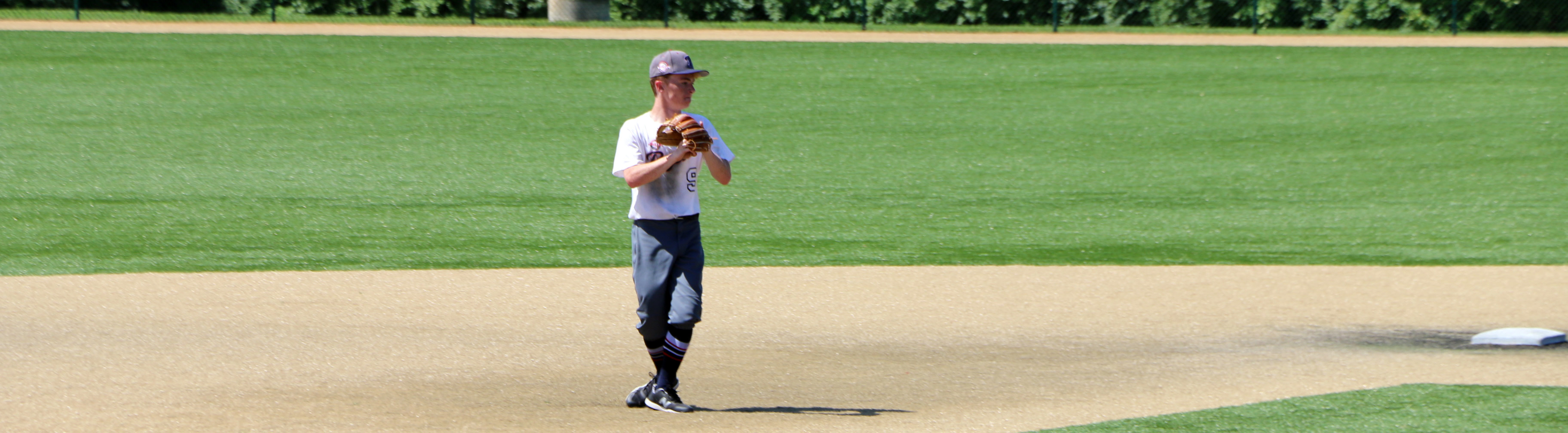 Dom warming up between innings