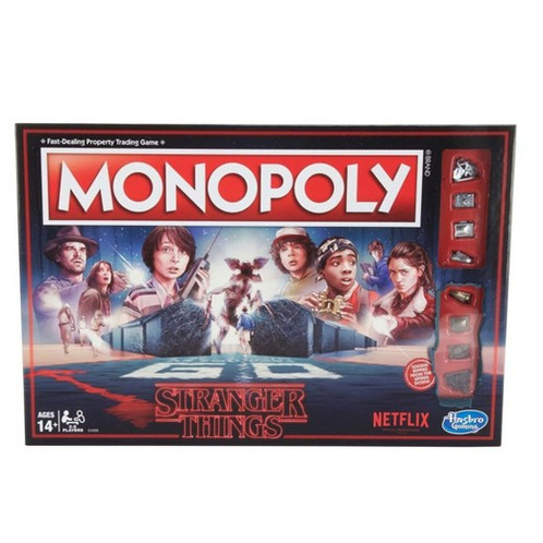 In This Monopoly Game Inspired By The Netflix Original Series Stranger Things Will Byers Has Gone Missing Players Choose An 80s Token Or One