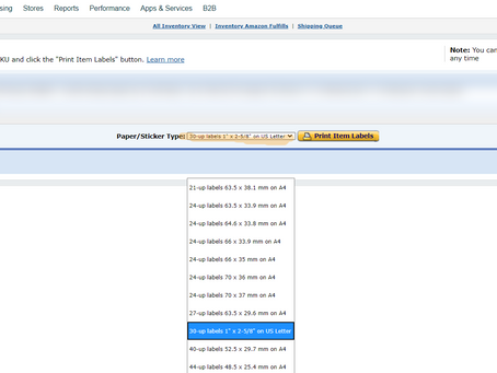 How to Create Amazon Barcode Labels (FNSKU) On Sellercentral