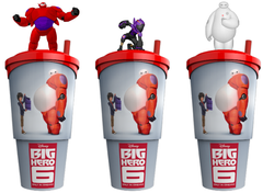 """""""Big Hero"""" glāzes ar filmu varoņiem"""