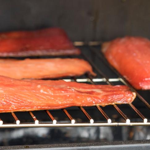 Salmon steaks - caught just hours earlier