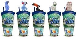 """""""Rio 2"""" glāzes ar filmu varoņiem"""