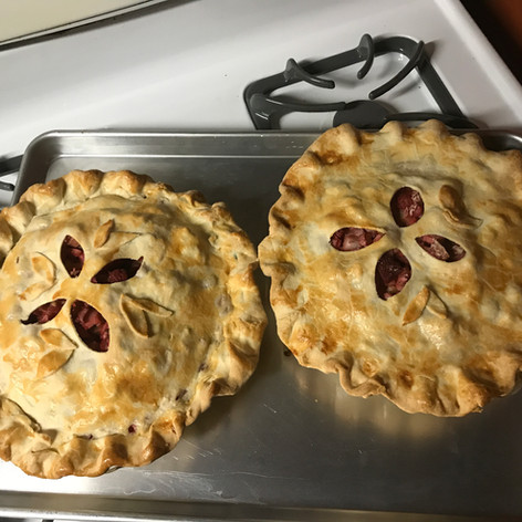 Pies from fresh picked berries