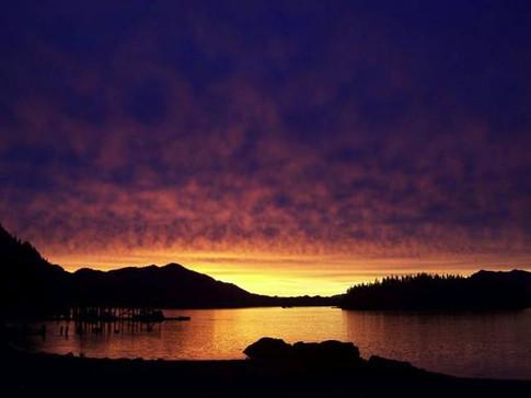Gorgeous Sunset At Port Ashton