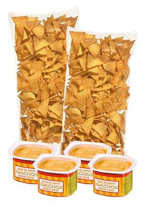 Nacho čipsu komplekts ar siera mērcīti