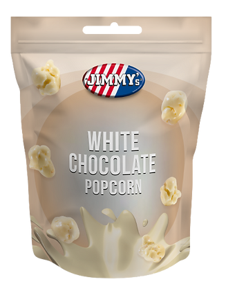 Taste of JIMMY's_Popkorns ar balto šokolādi | 12gb.