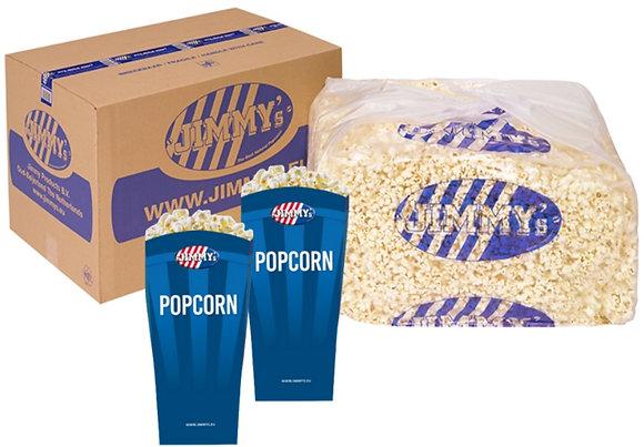 Sāļais popkorns kastē (3kg) + 50 tūtas