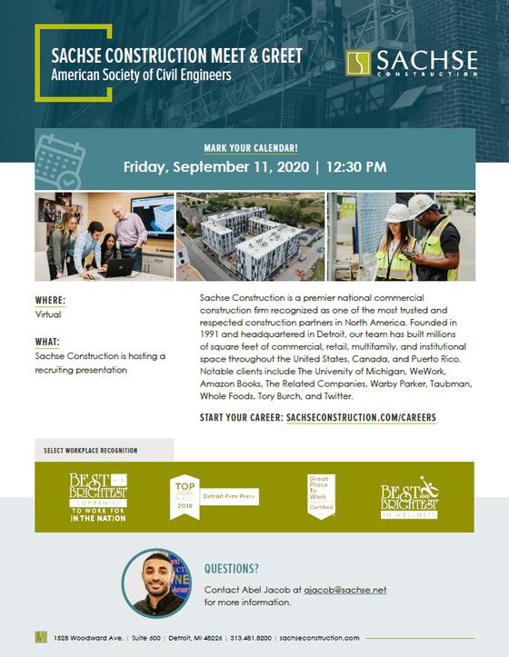 Sachse Construction @ Speaker Series 2020 - 09/11 12:30pm